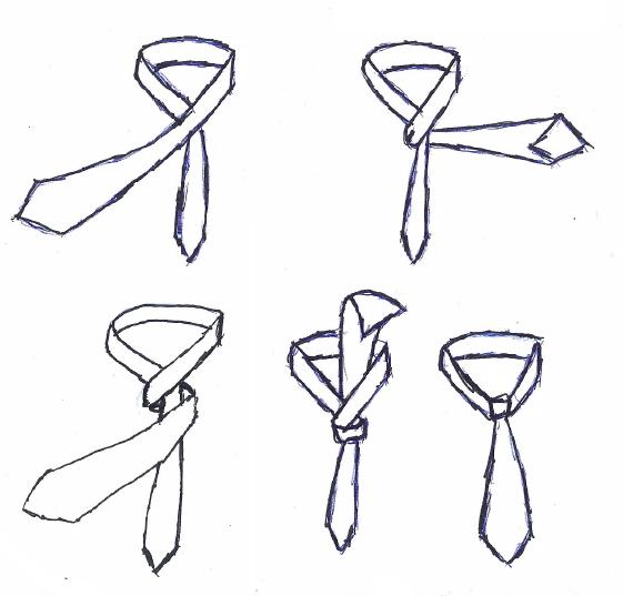 Der einfache Krawattenknoten ist schnell gebunden und leicht erlernt. Er gehört zu den 4 Standardknoten.