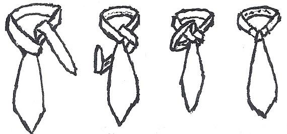 Der Atlantikknoten ein moderner Krawattenknoten, symmetrisch und schnell erlernt.