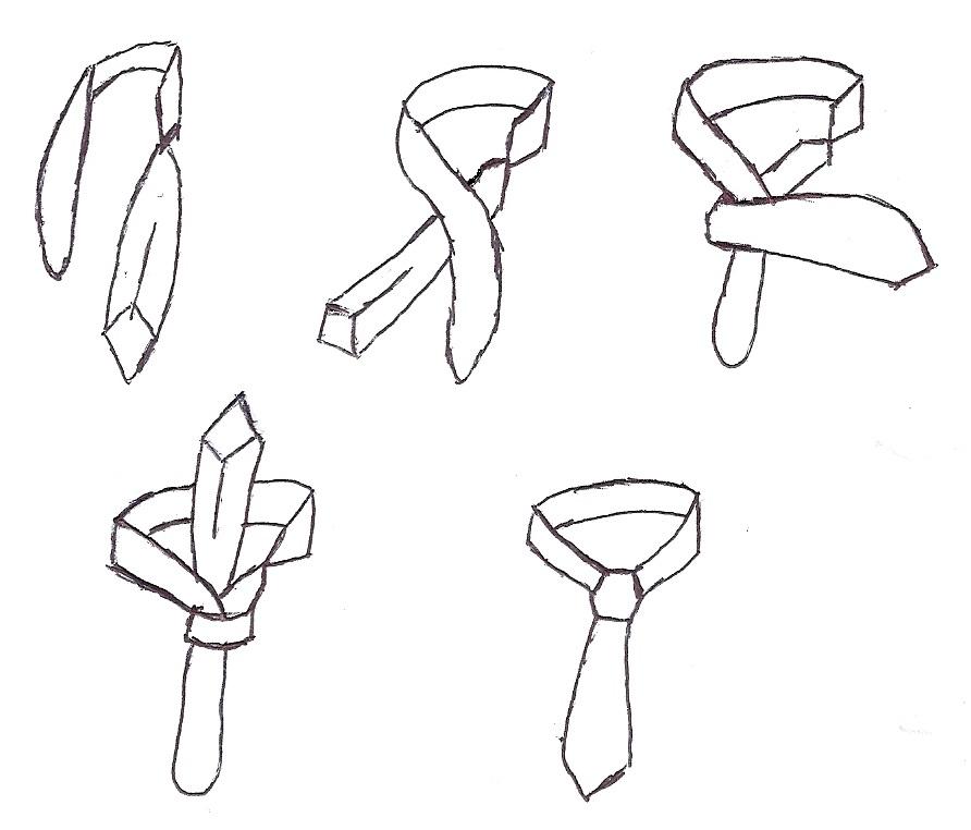 Der Kentknoten eignet sich durch die 180° Drehung gut für große Männer, da man mehr Krawattenlänge zur Verfügung hat.