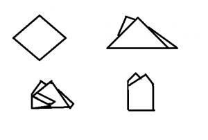 Ein Einstecktuch mit dem Two Point Fold falten.