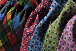 Krawattenmuster gibt es in verschiedensten Ausführungen.