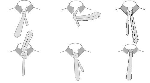 Wie der einfache Windsorknoten gebunden wird