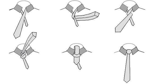 Wie der einfache Krawattenknoten gebunden wird
