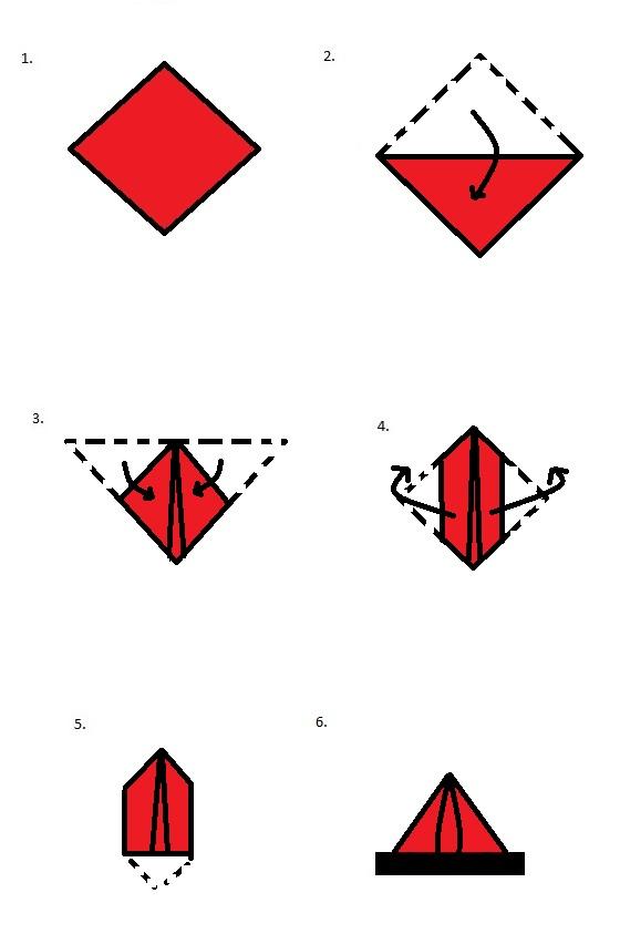 Die Dreiecks-Pufffaltung