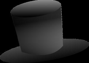 Ein schwarzer Zylinder ist typisch für den Cut bei der Trauung.